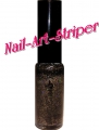 Nailart-Lack #048 black holo-glitter (7 ml)