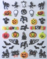 3D Nail Sticker, Halloweenmotive